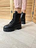 Женские ботинки кожаные зимние черные, фото 6