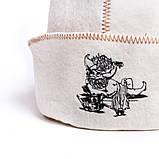 """Банная шапка Luxyart """"Банщик"""", натуральный войлок, белый (LA-065), фото 3"""