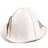 """Банная шапка Luxyart """"Банщик"""", натуральный войлок, белый (LA-065), фото 4"""