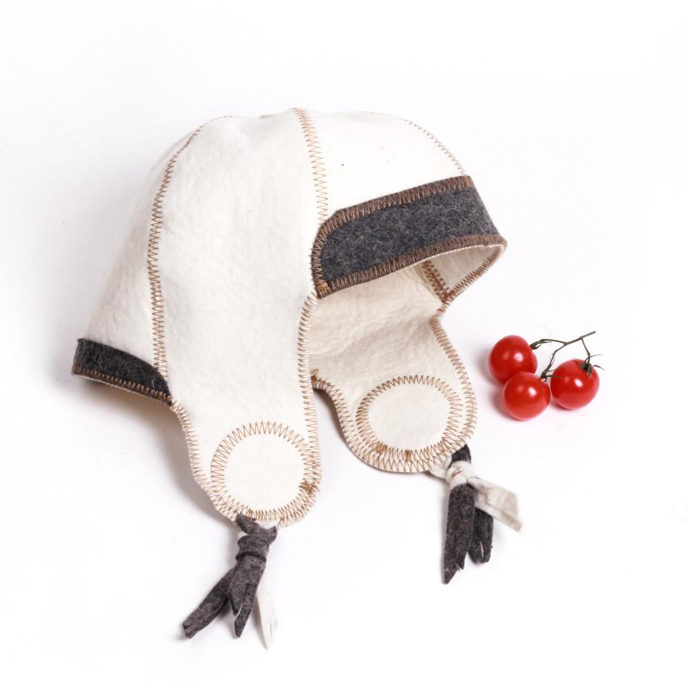 """Банная шапка Luxyart """"Финская"""", натуральный войлок, белый (LA-080)"""