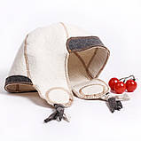 """Банная шапка Luxyart """"Финская"""", натуральный войлок, белый (LA-080), фото 2"""