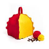 """Банная шапка Luxyart """"Букашка"""", натуральный войлок, красный с желтым (LA-087), фото 2"""