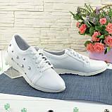 Кроссовки женские кожаные, цвет белый., фото 2