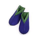 Тапочки для дома и бани войлочные Luxyart Цветный малые, размер 36-39, синий с зеленым(LS-147), фото 3