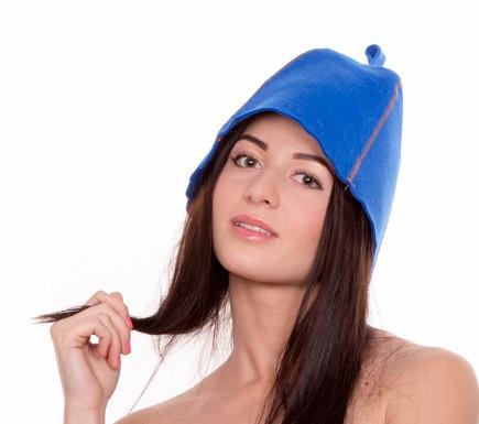 Банная шапка Luxyart, натуральный войлок, синий (LA-997)
