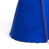 Банная шапка Luxyart, натуральный войлок, синий (LA-997), фото 3