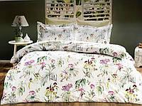 Комплект постільної білизни Tivolyo Home Nora сатин 220-200 см різні кольори, фото 1