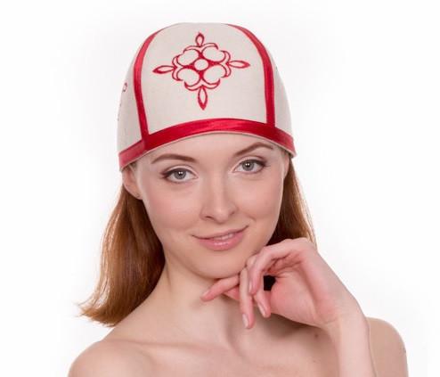 """Банная шапка Luxyart """"Турецкая"""", натуральный войлок, белый (LA-098)"""