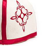 """Банная шапка Luxyart """"Турецкая"""", натуральный войлок, белый (LA-098), фото 3"""