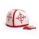 """Банная шапка Luxyart """"Турецкая"""", натуральный войлок, белый (LA-098), фото 4"""