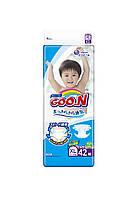 Підгузники GOO.N для дітей 12-20 кг (розмір Big (XL), на липучках, унісекс, 42 шт)