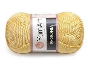 YarnArt Begonia, Желтый №4653