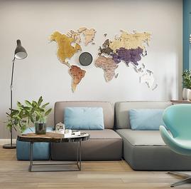 Карти світу, скретч-картки, скретч-листівки
