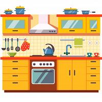 Кухонні меблі та комплектуючі для неї