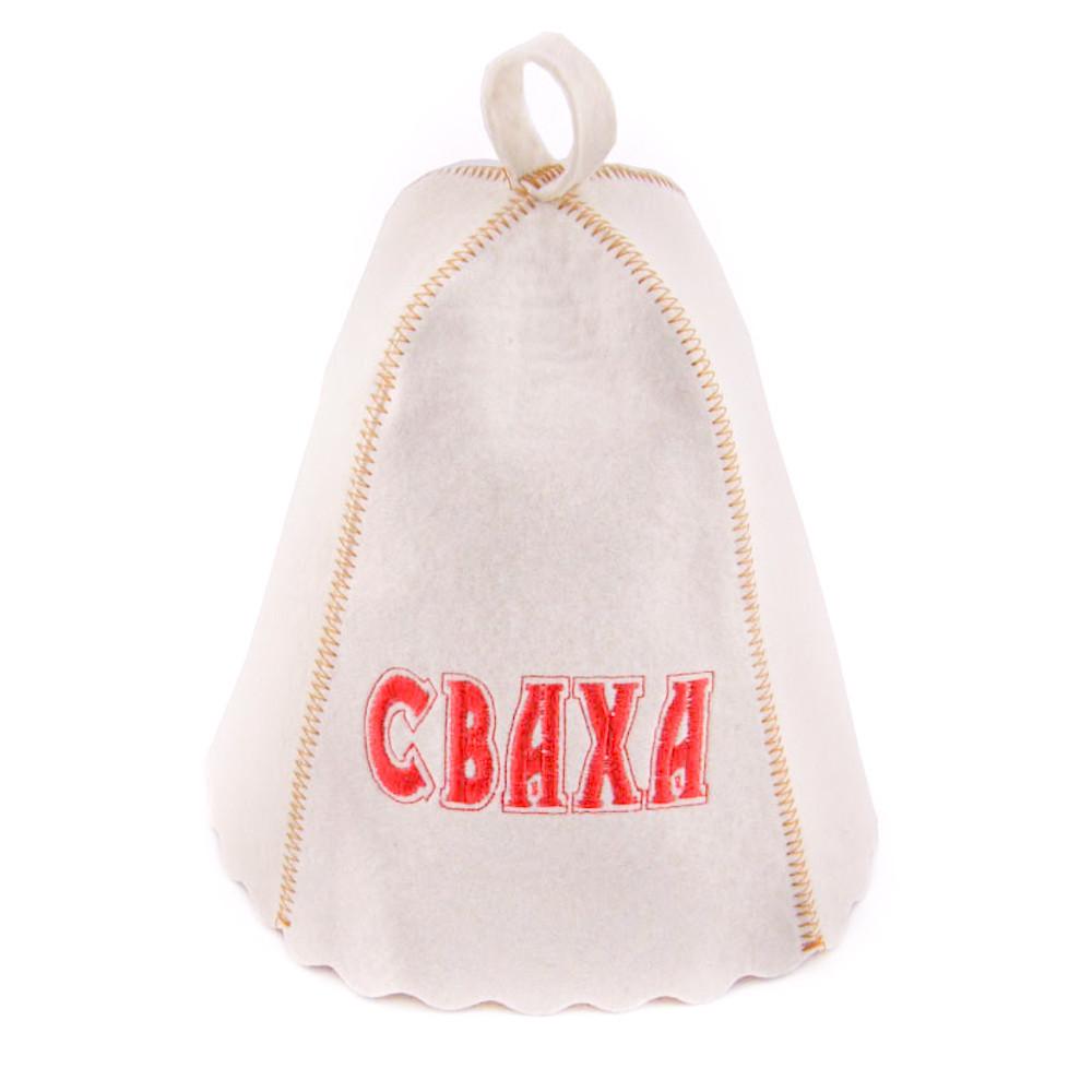 """Банная шапка Luxyart """"Сваха"""", натуральный войлок, белый (LA-161)"""