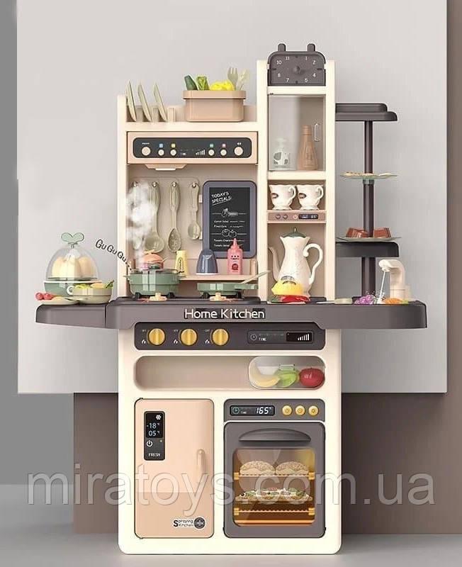 Большая детская кухня 889-211 с водой и паром, (свет, звук) 65 предметов