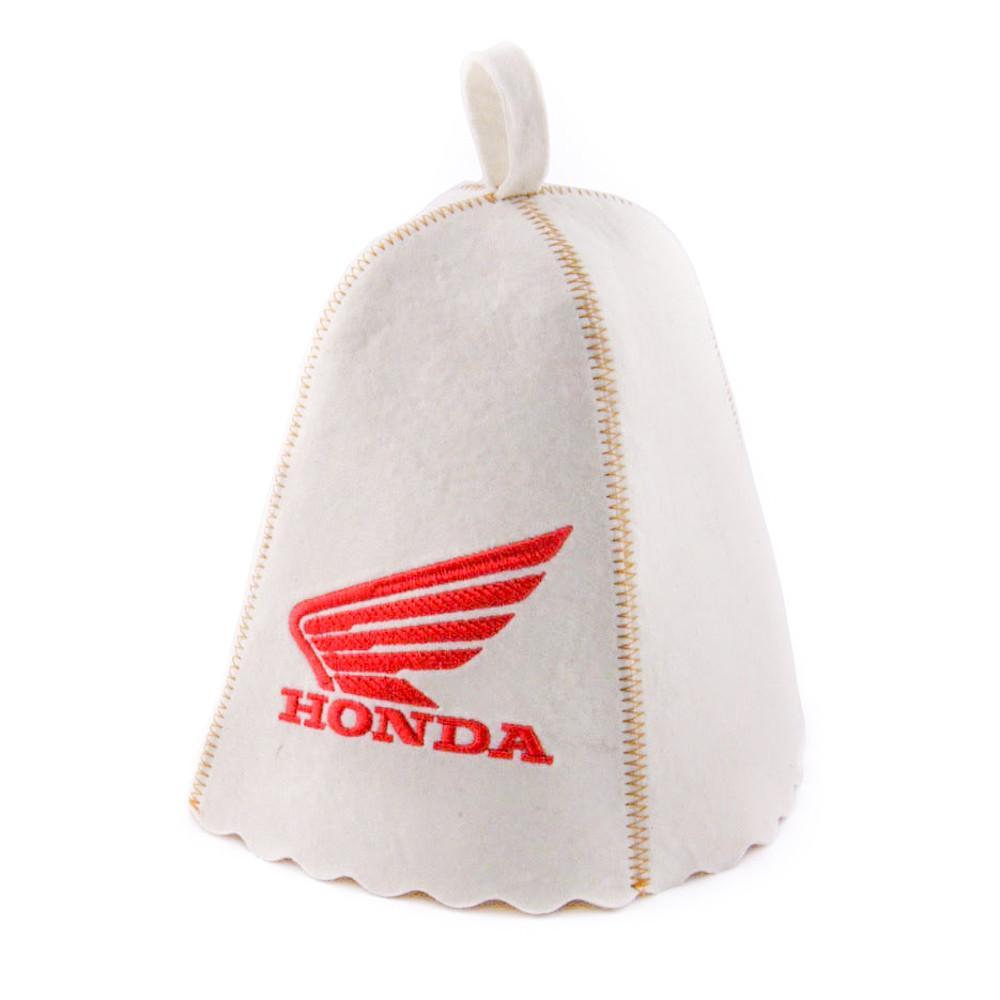 """Банная шапка Luxyart """"Honda"""", натуральный войлок, белый (LA-185)"""