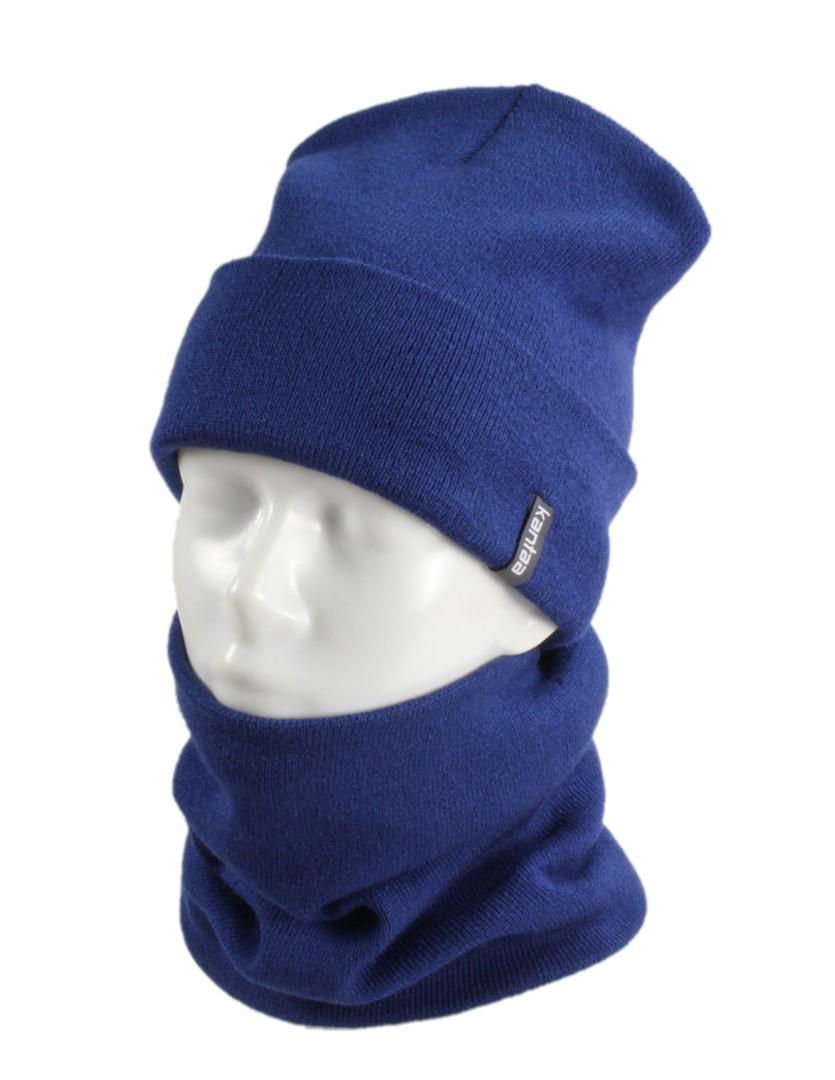 В'язана шапка з Buff снуд КАНТА унісекс розмір дорослий, синій (OC-068)