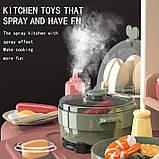 Велика дитяча кухня 889-211 з водою і пором, (світло, звук) 65 предметів, фото 3