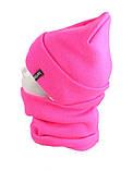 В'язана шапка з Buff снуд КАНТА жіночий розмір дорослий, рожевий (OC-072), фото 2