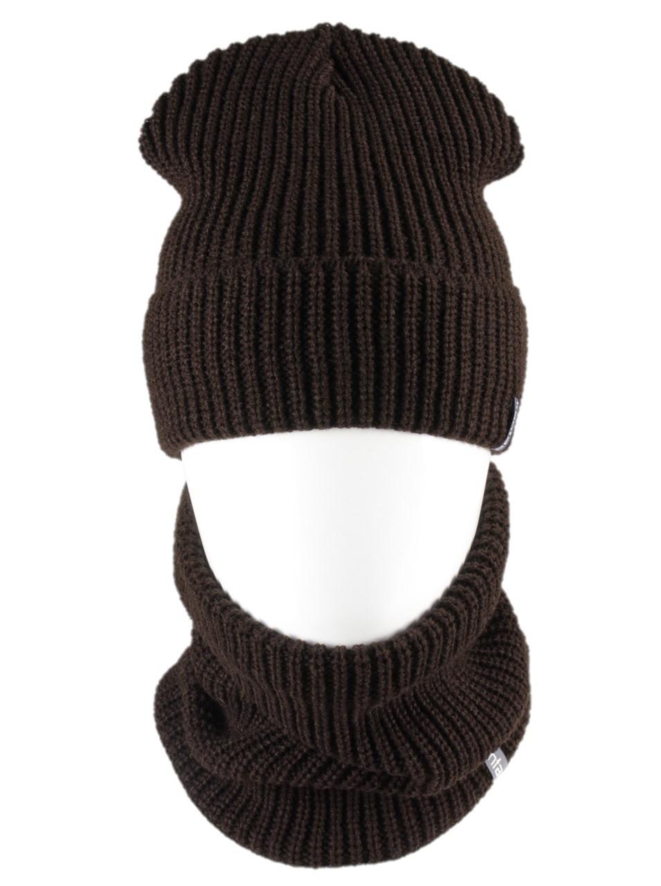 В'язана шапка з Buff снуд КАНТА унісекс розмір дорослий, коричневий (OC-092)