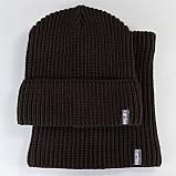 В'язана шапка з Buff снуд КАНТА унісекс розмір дорослий, коричневий (OC-092), фото 3