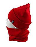 Вязаная шапка с Buff снуд КАНТА унисекс размер взрослый, красный (OC-095), фото 2