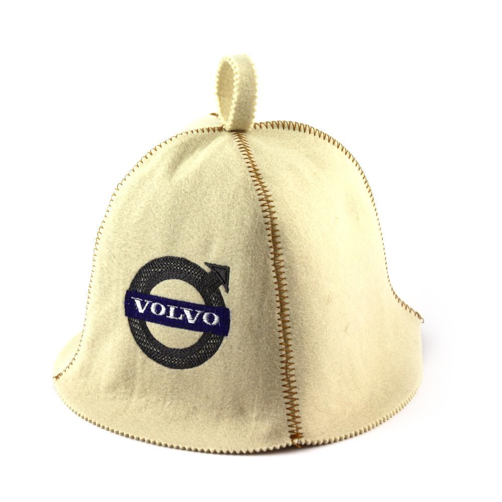 "Банная шапка Luxyart ""Volvo"", искусственный фетр, белый (LA-316)"