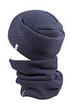 Вязаная шапка с Buff снуд КАНТА унисекс размер взрослый, синий (OC-118), фото 2
