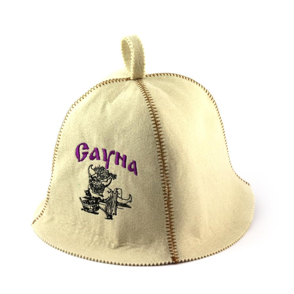 """Банная шапка Luxyart """"Сауна"""", искусственный фетр, белый (LA-376)"""
