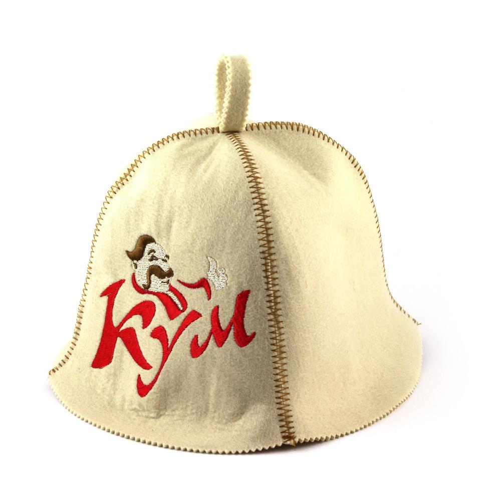 """Банная шапка Luxyart """"Кум"""", искусственный фетр, белый (LA-388)"""