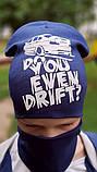 Детская шапка с хомутом КАНТА размер 52-56, синий (OC-163), фото 3