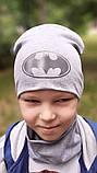 Детская шапка с хомутом КАНТА размер 52-56, серый (OC-175), фото 2