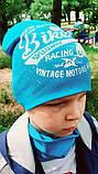 Детская шапка с хомутом КАНТА размер 48-52, голубой (OC-234), фото 5