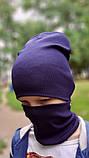 Детская шапка с хомутом КАНТА размер 52-56, синий (OC-241), фото 3