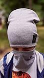 Детская шапка с хомутом КАНТА размер 48-52, серый (OC-255), фото 2