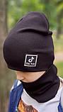 Детская шапка с хомутом КАНТА размер 52-56, черный (OC-265), фото 4