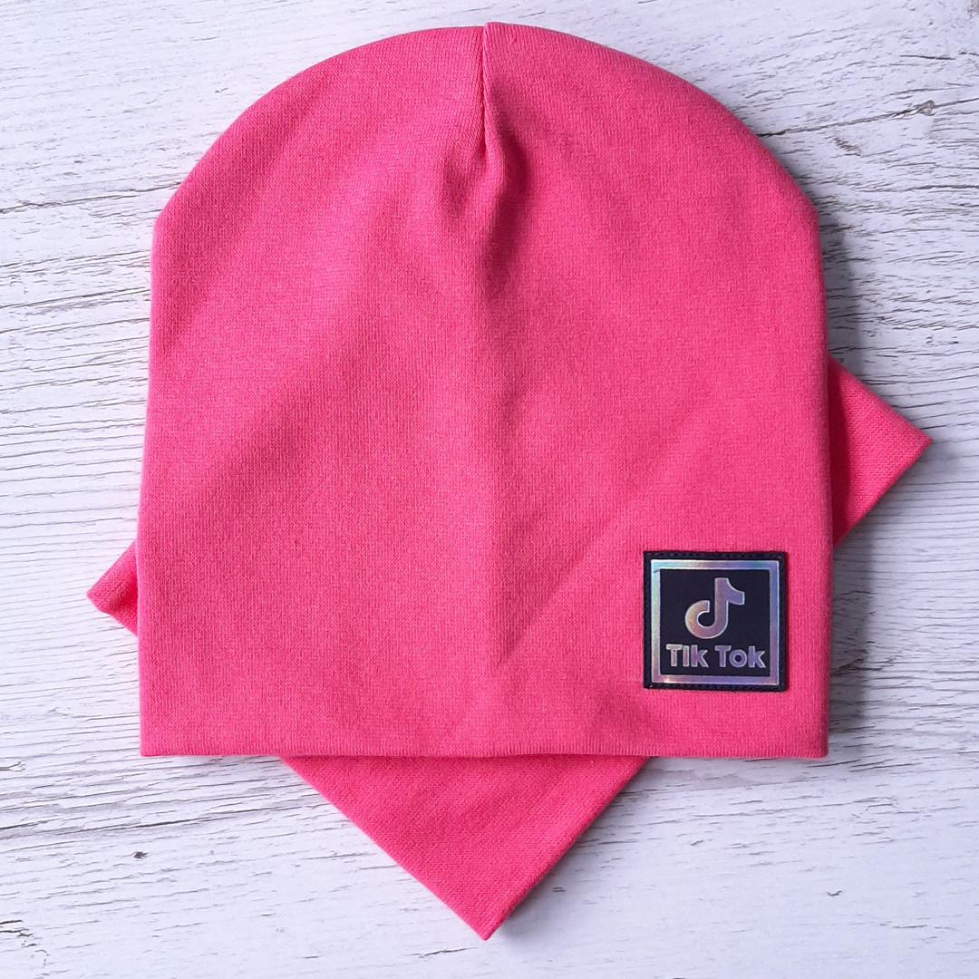 Детская шапка с хомутом КАНТА размер 52-56, розовый (OC-286)