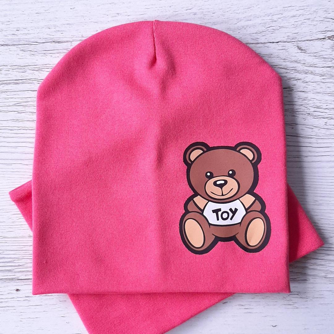 Детская шапка с хомутом КАНТА размер 48-52, розовый (OC-288)