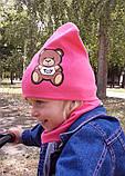 Детская шапка с хомутом КАНТА размер 48-52, розовый (OC-288), фото 5