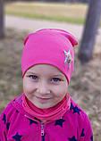Детская шапка с хомутом КАНТА размер 52-56, розовый (OC-313), фото 2