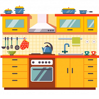 Полка кухонная на стену