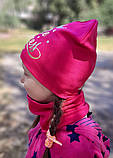 Детская шапка с хомутом КАНТА размер 48-52, малиновый (OC-342), фото 3