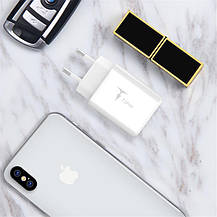 Мережевий зарядний пристрій T-phox Pocket (2USBх2.1A) White, фото 2