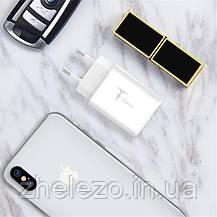Сетевое зарядное устройство T-phox Pocket (2USBх2.1A) White, фото 2
