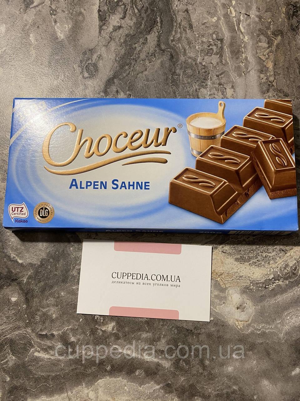 Молочний шоколад Choceur з альпійським молочком 200 грм