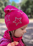 Детская шапка с хомутом КАНТА размер 48-52, малиновый (OC-375), фото 3