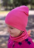 Детская шапка с хомутом КАНТА размер 48-52, розовый (OC-387), фото 2