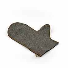 Банная рукавичка Luxyart, натуральный войлок, серый (LA-504)