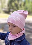 Детская шапка с хомутом КАНТА размер 52-56, розовый (OC-396), фото 2